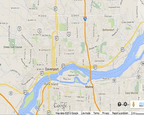 Davenport Iowa Map Related Keywords Amp Suggestions